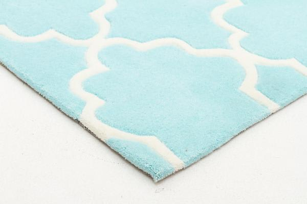 Kids Trellis Design Rug Soft Blue 165x115cm