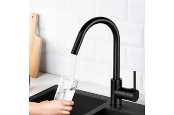 Cefito Kitchen Tap Mixer Taps Faucet Sink Basin Brass Swivel WELS Black