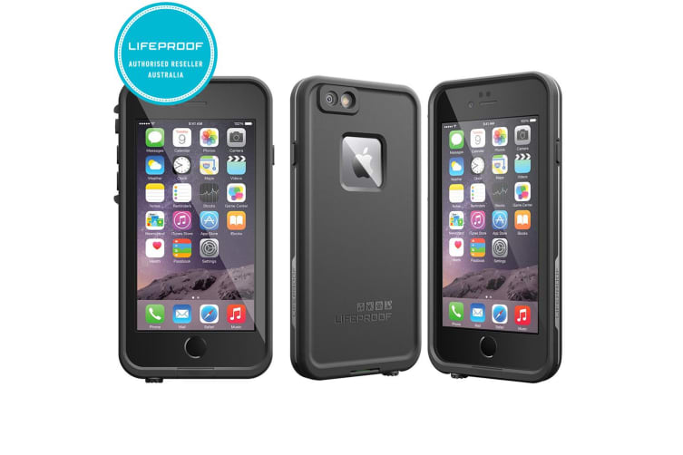 low priced 6a2f8 4d39a Black Lifeproof Fre Tough Case Cover Waterproof Shockproof for Apple iPhone  6/6s