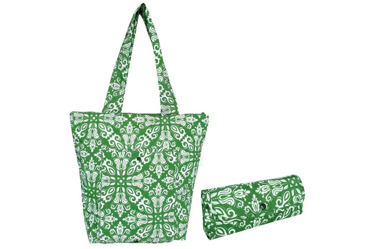 4PK Sachi Insulated Thermal Cooler Shopping Bag Storage Market Tote Bohemian GRN