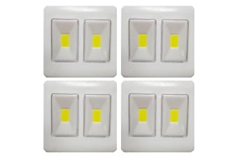 4x COB LED Dual Mode Cordless/Wireless Night Light Switch Bedroom/Indoor/Outdoor
