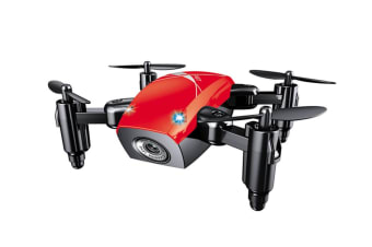 Quadcopter,300K Pixel Wifi Mobile Phone Aerial Toy Uav Red With Camera