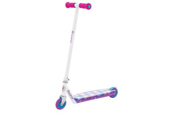 Razor Party Pop Push Scooter w/LED Lights Kids/Children 2 Wheel Ride On - Pink
