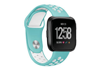 Fitbit Versa Bands Sport Silicone Breathable Strap Replacement LightBlue&White