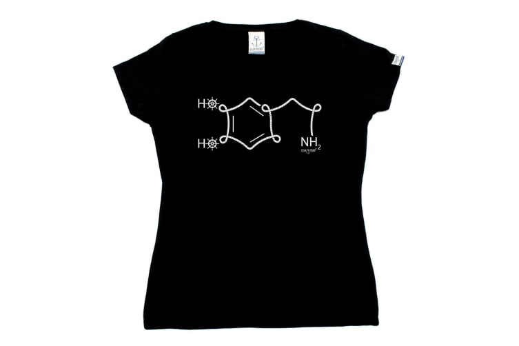 Ocean Bound Sailing Tee - Nh2 Chemical Structure - (XX-Large Black Womens T Shirt)