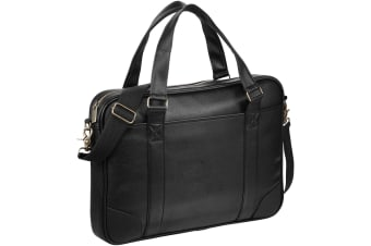 Avenue Oxford 15.6in Laptop Slim Briefcase (Pack of 2) (Solid Black)