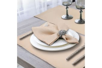 French Luxe 100% Linen Square Everyday Dinner Table Napkin Set 50x50cm - Neutral