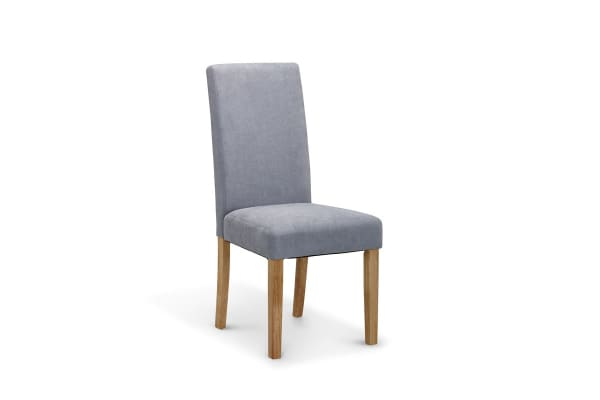 Ovela Set of 6 Kyran Fabric Dining Chairs (Ash Grey)