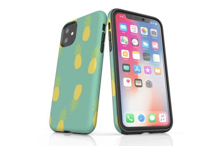 For iPhone 11 Shielding Back Case  Pastel Pineapple