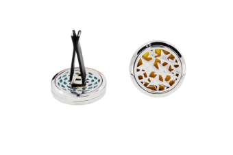 Stainless Steel Star Design Locket Clip Perfume Diffuser Holder