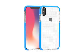 For iPhone XS MAX Cover Basketball Texture Thin Shockproof Phone Case Blue Edges