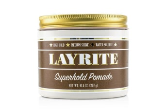 Layrite Superhold Pomade (High Hold, Medium Shine, Water Soluble) 297g/10.5oz