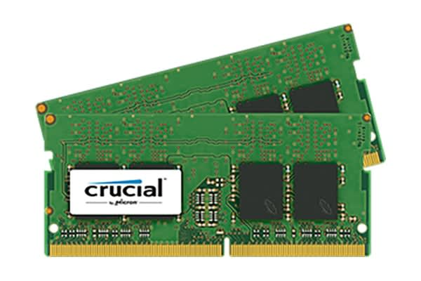 Crucial 16GB Kit (8GBx2) DDR4 2400 MT/s (PC4-19200) CL17 SR x8 Unbuffered SODIMM 260pin Single Ranked