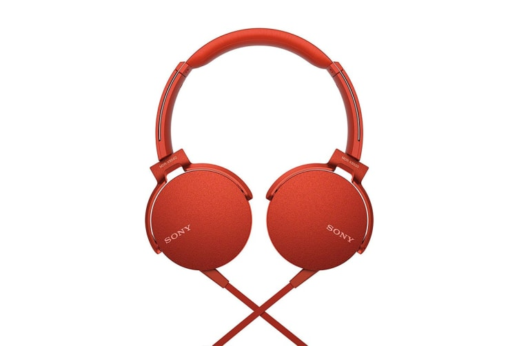 Sony Extra Bass Headphones - Red (MDRXB550APR)