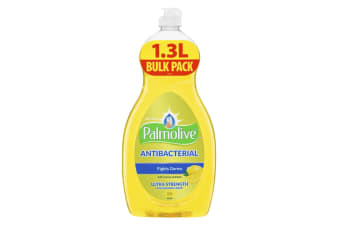 Palmolive 1.3L Antibacterial Ultra Strength Dishwashing Liquid Concentrate Lemon