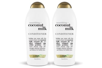 2x OGX 750ml Nourishing + Coconut Milk Conditioner