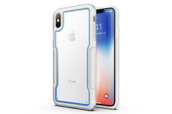 MAXSHIELD Slim Clear Heavy Duty ShockProof Case for iPhone XS MAX-Clear blue