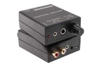 Pro2 Headphone Amplifier with 3.5mm RCA inputs Volume Control with Power Switch