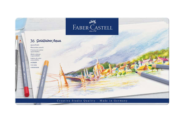 Faber-Castell 36 Piece Goldfaber Aqua Tin Set