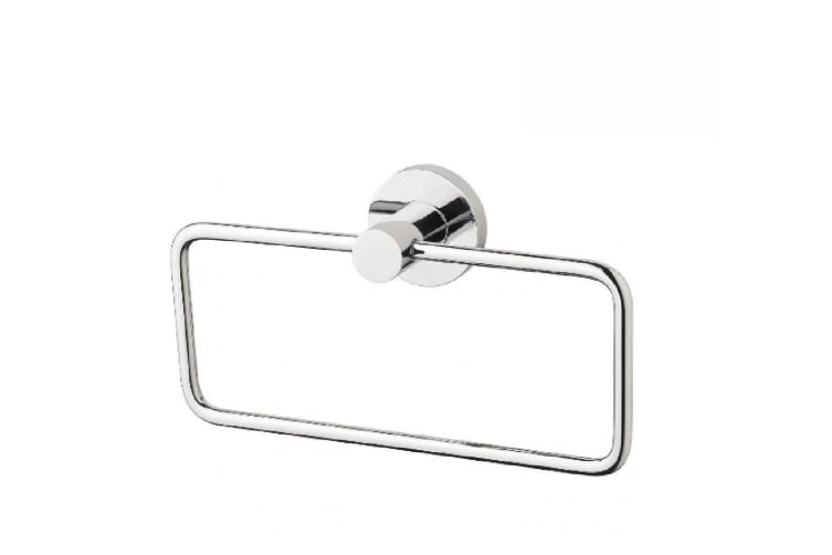 Phoenix Radii Hand Towel Holder Round Plate Chrome RA893 CHR