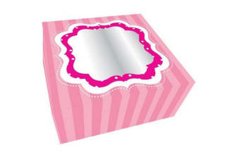 Anniversary House Cupcake/Cup Cake Boxes (2 Pack) (Pink) (16x16x7.5cm)