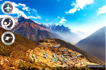 NEPAL: 12 Day Everest Base Camp Trek Including Helicopter Flight for Two
