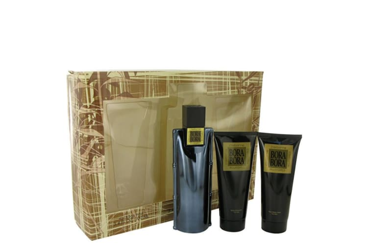 Liz Claiborne Bora Bora Gift Set - Cologne Spray + Body Moisturizer + Hair & Body Wash