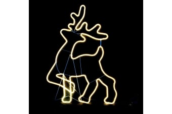 Neon LED Flexi Rope Light Reindeer For Christmas Decoration 70x95cm