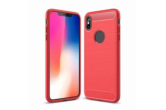 Compatible With Apple Iphone ,Slim Carbon Silicone Rugged Shockproof Protective Case for Iphone Xs Max