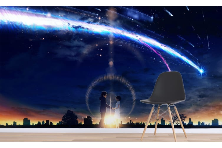 3D Your Name 071 Anime Wall Murals Woven paper (need glue), XXL 312cm x 219cm (WxH)(123''x87'')