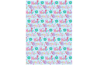 Simon Elvin 24 Sheets Designer Female Gift Wraps (Light Blue/Pink)