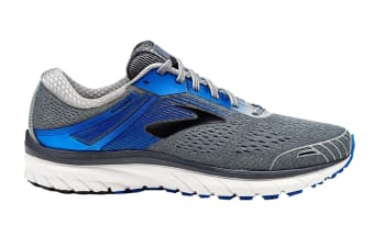 Brooks Men's Adrenaline GTS 18 (Grey/Blue/Black, Size 10)