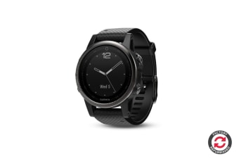 Refurbished Garmin Fenix 5S Silver with Black Band