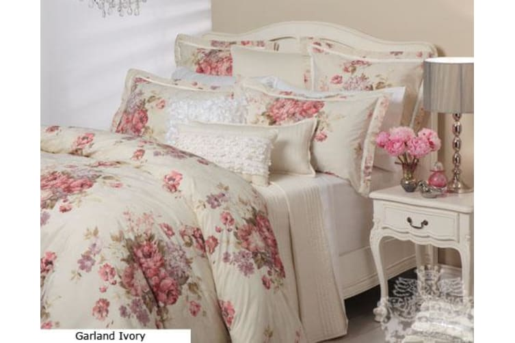 GARLAND IVORY Quilt Cover Set QUEEN
