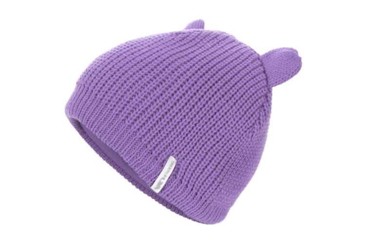 Trespass Childrens/Kids Toot Knitted Winter Beanie Hat (Viola) (2/4 Years)