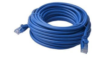 8Ware Cat6a UTP Ethernet Cable 50m Snagless Blue