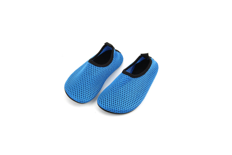 Water Sports Shoes Barefoot Quick-Dry Aqua Yoga Socks Slip-On For Kids Blue Xl(30-31)