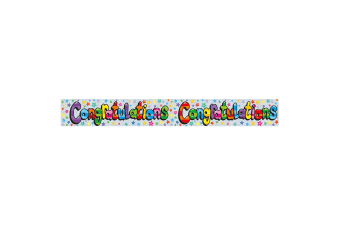 Expression Factory Congratulations Holographic Foil Banner (Multicoloured)