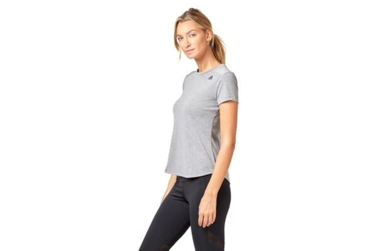 Adidas Women's Prime Mix Tee (Chalk solid grey, Size M)