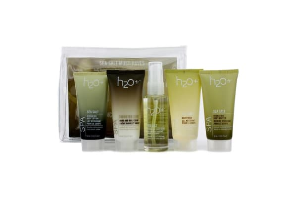 H2O+ Sea Salt Must-Haves: Body Wash 60ml + Body Butter 60ml + Body Lotion 60ml + Hand And Nail Cream 60 + Body Gloss 56ml (5pcs)