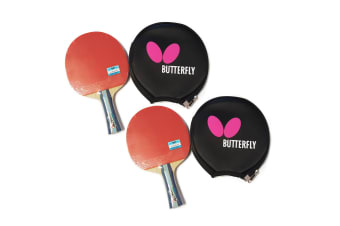 2x Butterfly TBC501 Table Tennis Bat Racket Long Handle Paddle + Free Bag