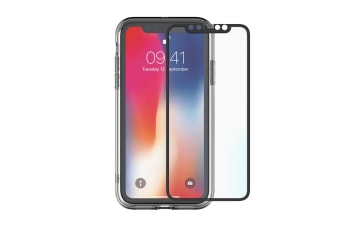 Cygnett 360° Bundle Glass front/Back Screen Protector with Bumper for iPhone Xs Max (CY2626BNSPB)