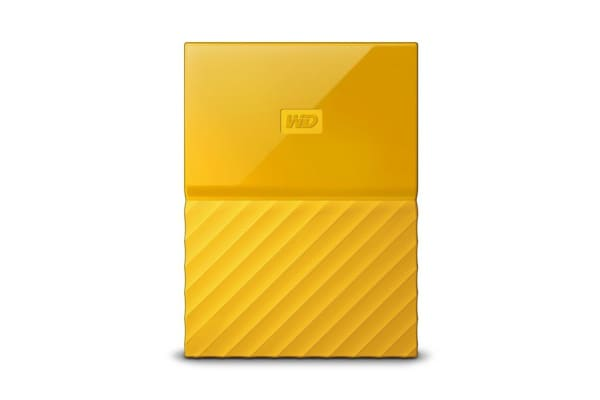 WD My Passport 2TB USB 3.0 Portable Hard Drive - Yellow (WDBS4B0020BYL-WESN)