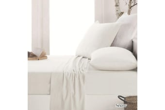 Easy-care Micro Flannel Sheet Set Snow Double