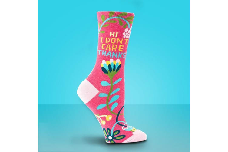 """I Don`t Care"" Ladies Socks"