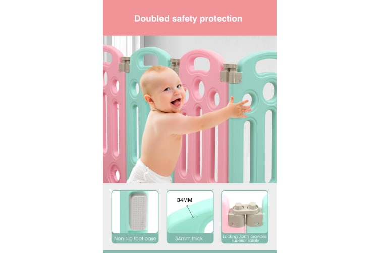 BoPeep Kids Playpen Baby Safety Gates Kid Play Pen Toddler Fence Room 18 Panels