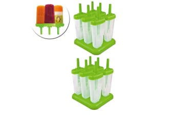12pc Tovolo Groovy Ice Pole  Popsicle Cream Sticks Frozen Mould Maker Mold Set