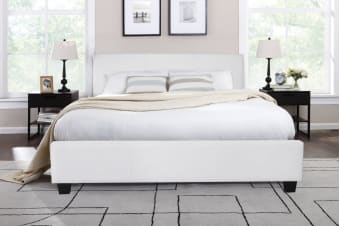 Shangri-La Bed Frame - Vernazza Collection (White)