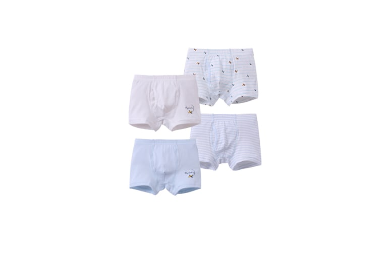 4Pcs Soft Cotton Kids Underwear Boys Boxer Briefs - Blue Blue 130Cm