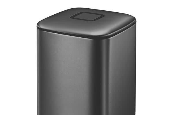 EKO Regent Step Can 6L Black Steel